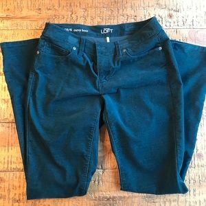 LOFT Curvy Boot Teal Corduroy Pants - EUC - Size 6